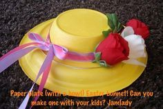 DIY paper hat ... Easter Bonnet or Kentucky Derby bonnet