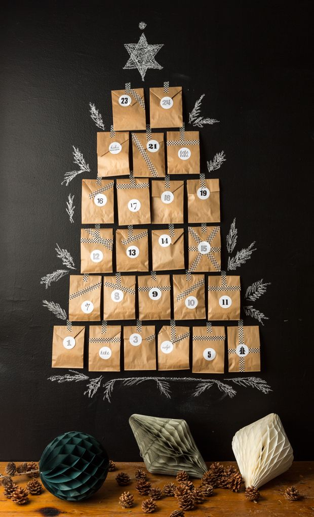DIY christmas calendar for Pop up kemut. Design and styling. Photography Janne Westerlund #DIY #christmascalendar