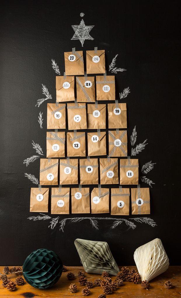 DIY christmas calendar for Pop up kemut. Design and styling. Photography Janne Westerlund #DIY #christmascalendar