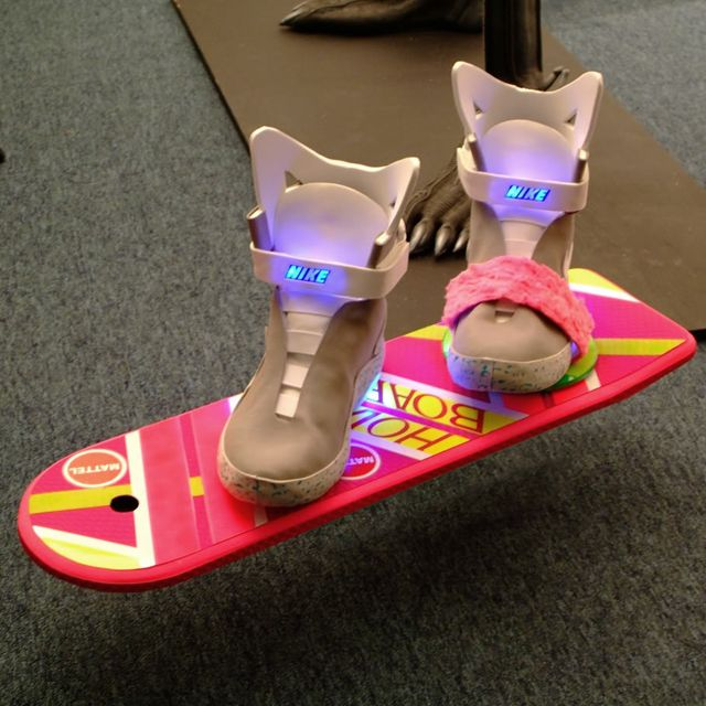 Back to the Future Hover Board - how come we don't have these yet? I'm disapoint.
