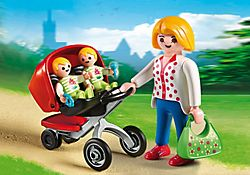 Mother with Twin Stroller £6.99