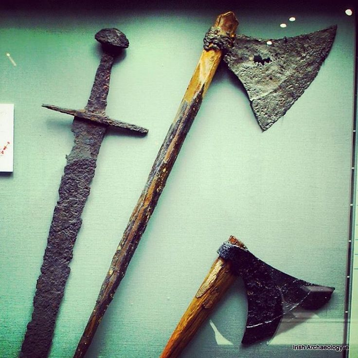 11th/12th century weapons on display at the National Museum of Ireland