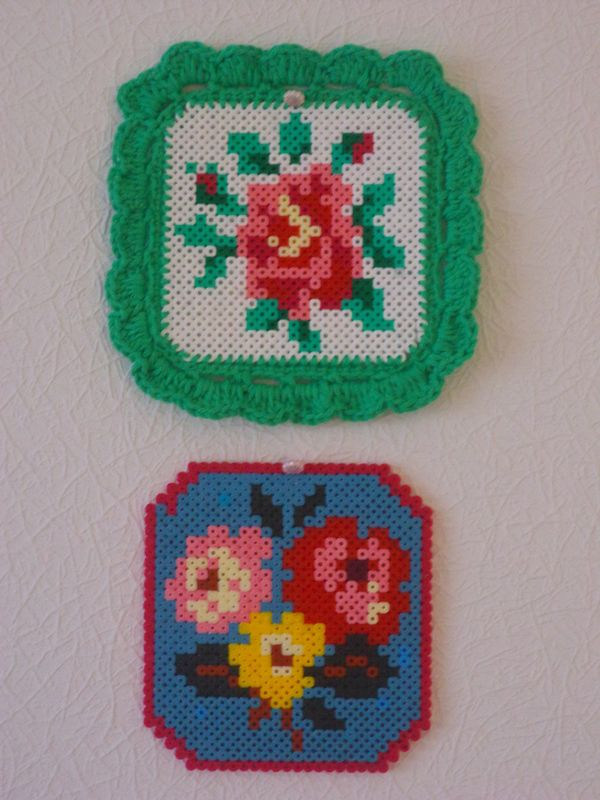 """""""Flower""""  Hama perler and crochet  by petite molly"""