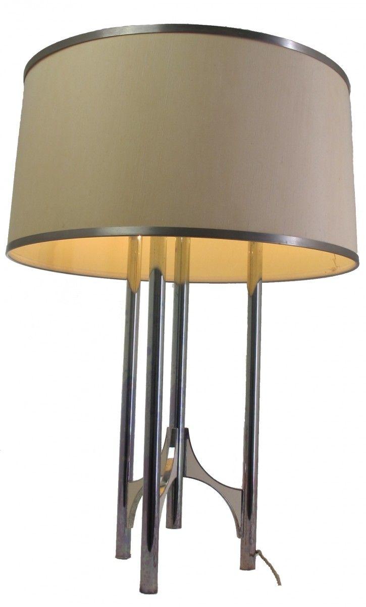Silver Plated Brass Floor Lamp By Gaetano Sciolari For Sciolari 7