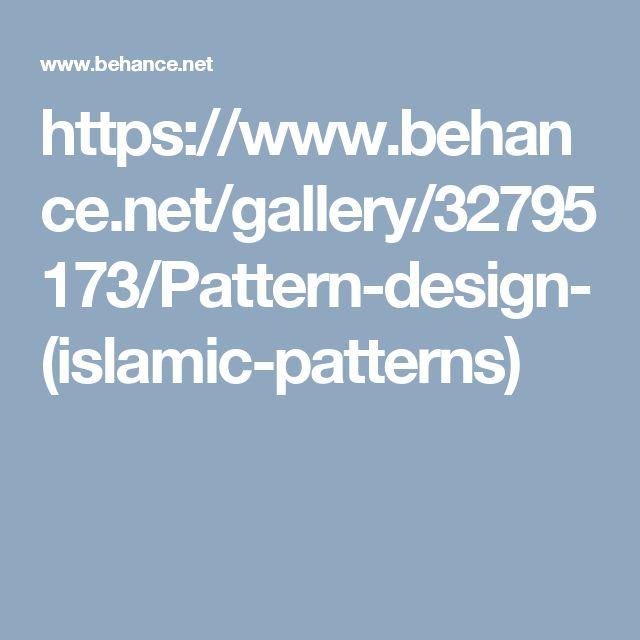 https://www.behance.net/gallery/32795173/Pattern-design-(islamic-patterns)
