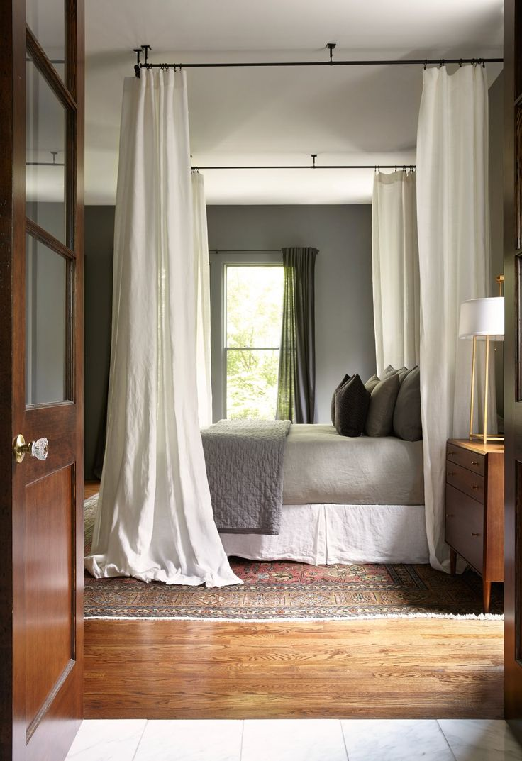 Antique french doors lead to Master Bedroom  Bedroom  MidCenturyModern  Modern by Marcelle Guilbeau Interior Design