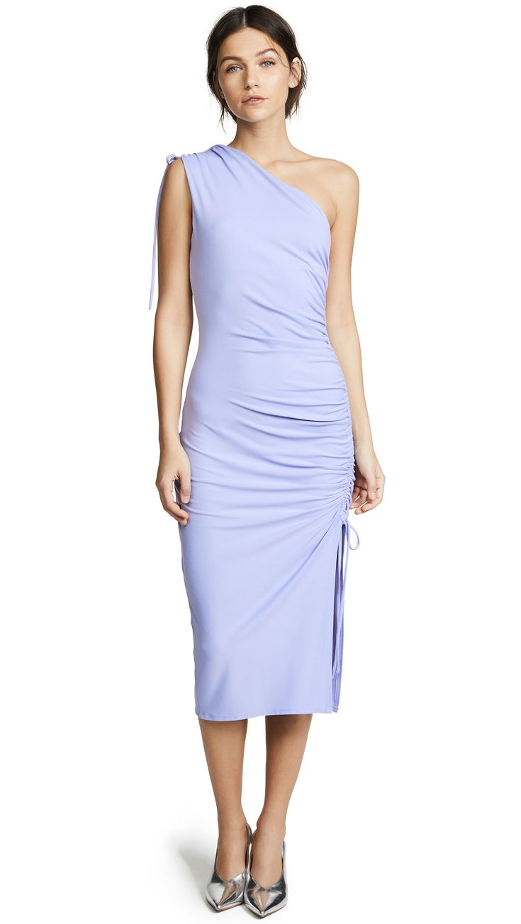 SUSANA MONACO LILLIE GATHERED ONE SHOULDER DRESS. #susanamonaco #cloth #