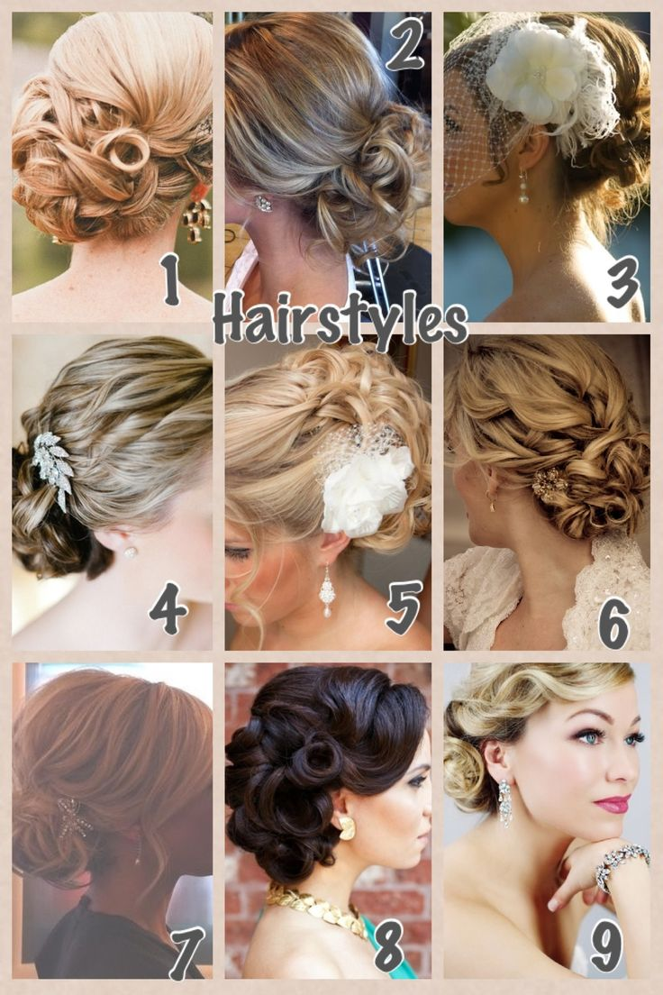Elegant updo style ideas for the bride or her bridesmaids