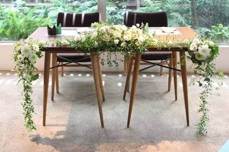 「高砂 テーブル 装花 シンプル」の画像検索結果