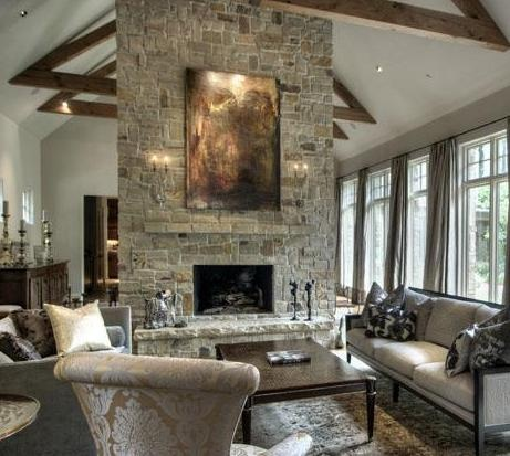 54 best images about great room on pinterest fireplaces - Floor to ceiling fireplace ...
