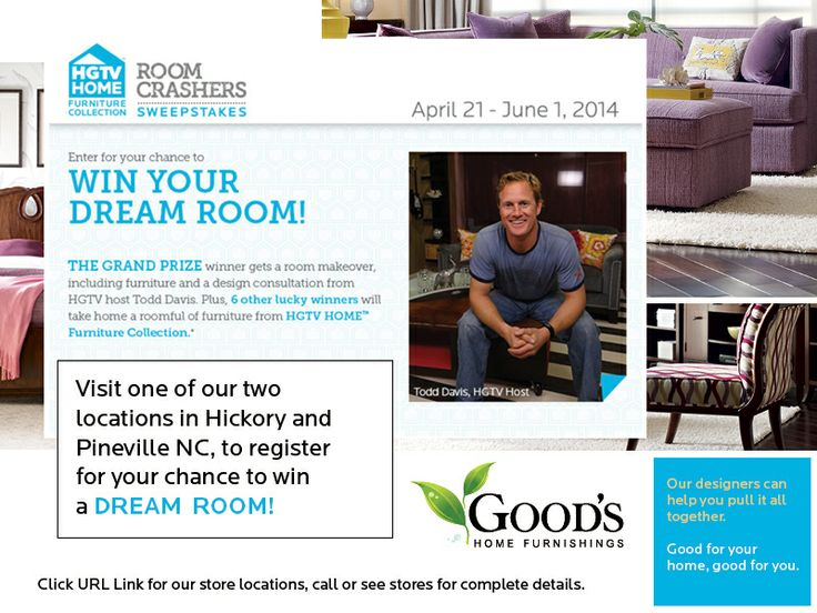 Routzahns Furniture Register for your chance to win an HGTV Room Crashers Makeover. Visit ...