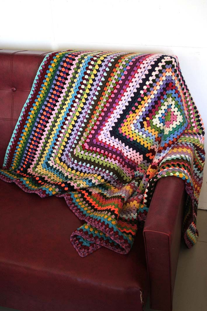 Look What I Made: Hodge Podge Large Granny Square Blanket