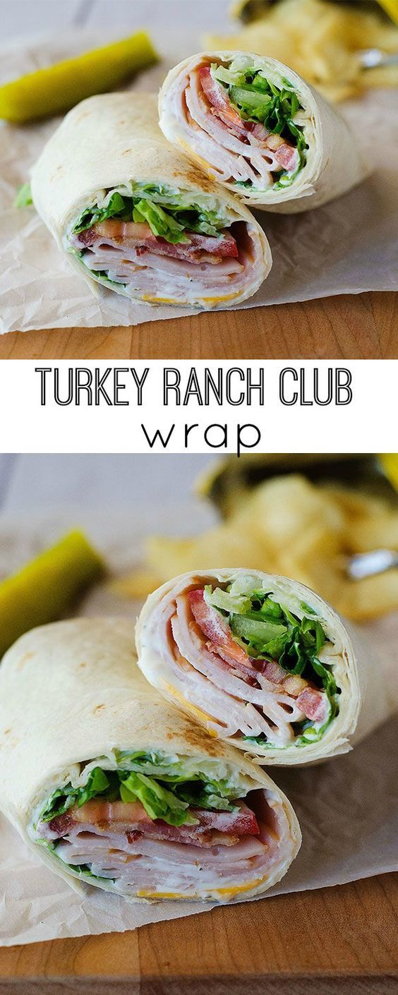Turkey Ranch Club Wraps are one of my favorite easy lunch recipes! Perfect for school lunches or lunch on the go!