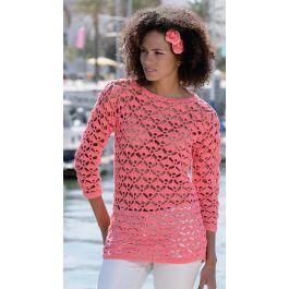 Wat een prachtig patroon! Als je graag in iets moois gezien wilt worden dan haak je voor jezelf deze prachtige trui! Wat een sieraad! Natuurlijk ook prachtig in het wit of in turkoois of pastel groen. Bestel je kleur en ga lekker aan de slag voor de zomer! Nodig: tussen de 12-13 bollen Scheepjeswol Cotton 8 Koraal (647) Leg het gratis patroon in je winkelmandje en we mailen je de link waarmee je het patroon kunt downloaden. Als je geen account hebt, waarderen we het enorm als je een…
