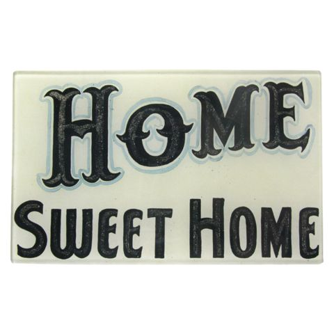 "Home Sweet Home 5 x 8"" Rect. Tray"
