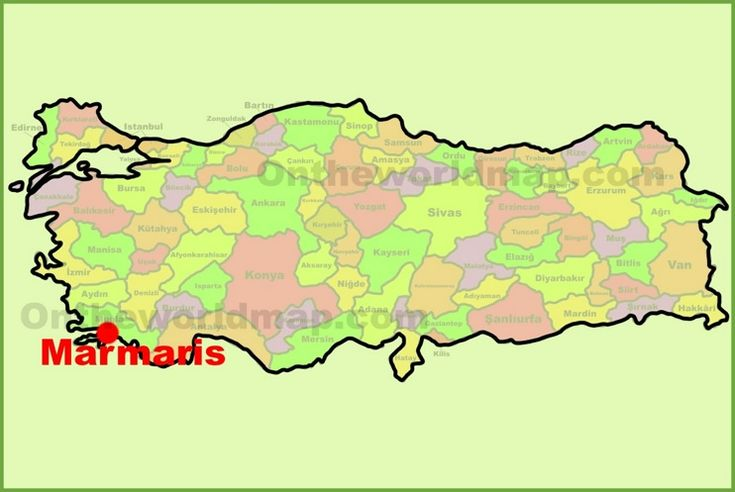 Marmaris location on the Turkey Map