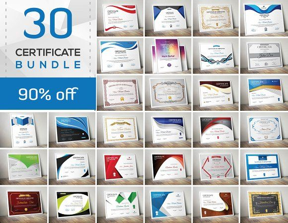 Certificate Bundle by Todorovic Designs on @creativemarket