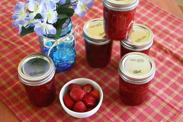 These jars of Strawberry Rhubarb are ready to go. We make it easy to concoct this spread all on your own.