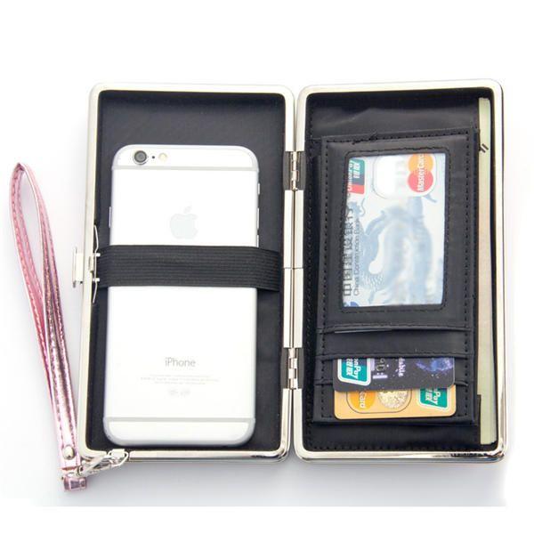 Baellerry Women Leaf Clutches Bags Zipper Long Wallets Card Holder Coin Bags 5.5 - US$14.69