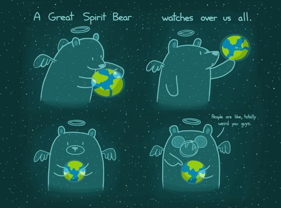 A Great Spirit Bear Watches Over Us All 8.5x11 Art by bikeparts