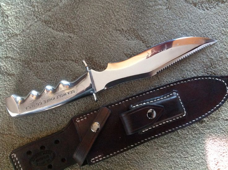 One of only a few hundred ever made.....a solid Stainless Sea Wolf knife!