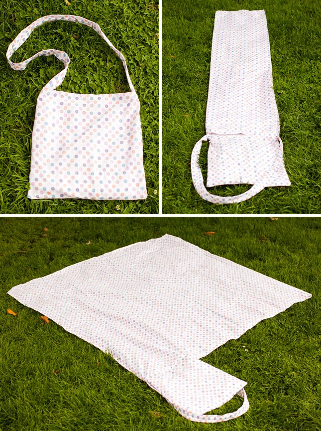 DIY a tote bag that transforms into a Picnic Blanket | Brit + Co.