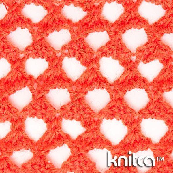4 stitch 3 row repeat Extreme lace knitting stitch pattern at Knitca - Cast on a…
