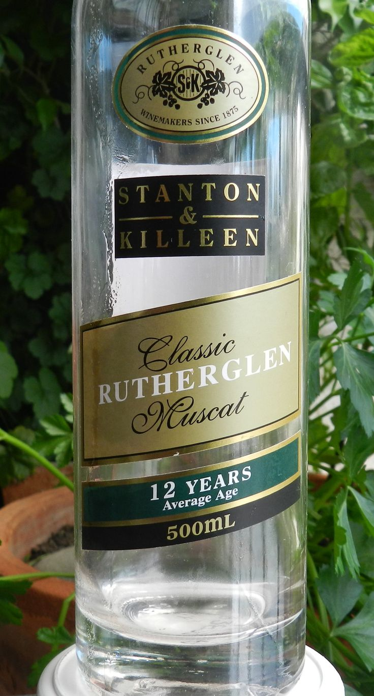 An Australian Classic - Muscat from Rutherglen.  One of the world's great wines.  Sadly, this bottle is now empty ! ! ! !