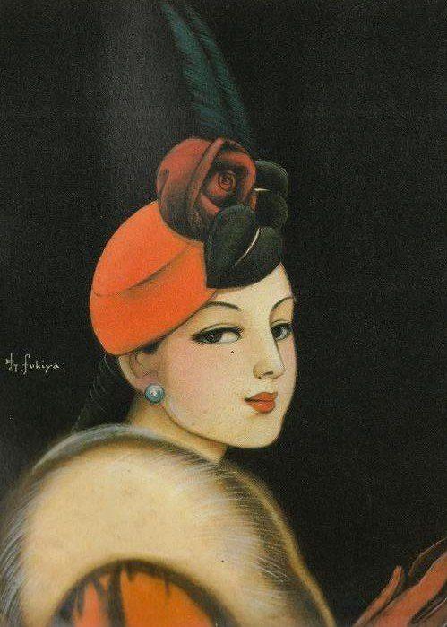 Japanese illustrator Fukiya Kouji 蕗谷 虹児 (1898-1979)