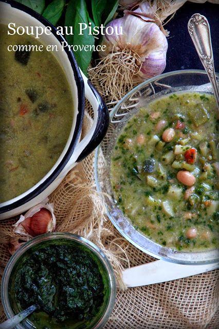 Authentique provençale : Un recette de soupe au Pistou bien de chez nous attention à faire cuire les cocos avant qui demàdent plus de cuisson