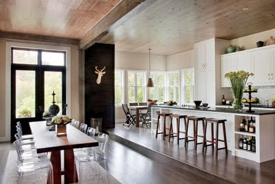 the setting: modern rustic house with open kitchen #saveur #dinnerparty