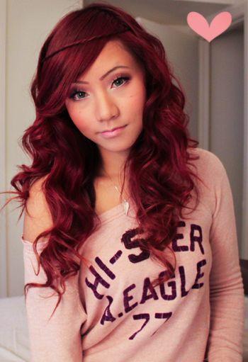 Light Auburn Hair Color   ... Red Hair?! Oh yes.. ♥ Garnier Color in Light Auburn for Dark Hair