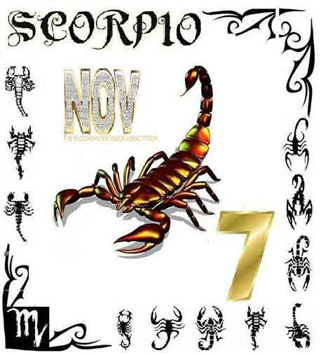Scorpios born on November 7 have mystical and profound spirits, insatiably curious minds, and deep reservoirs of power which they keep hidden under the surface of their magnetic personalities.