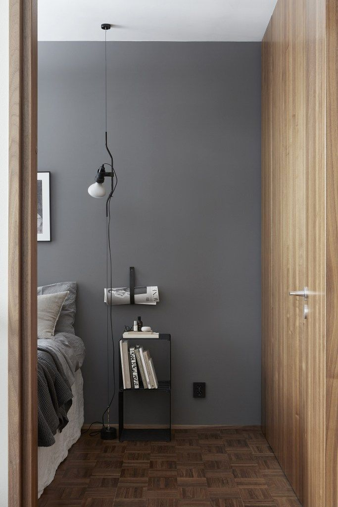 Stylish apartment in wood and grey - via Coco Lapine Design