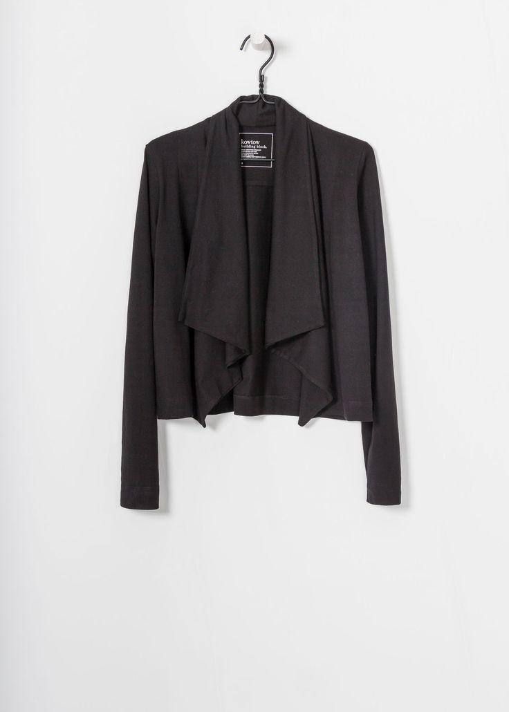 kowtow - 100% certified fair trade organic cotton clothing - Building Block Drape Cardigan