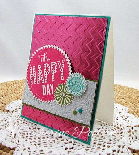 Metal sheets make this card POP!  http://catherinepooler.com/2014/01/add-a-little-dazzle/  #catherinepooler  #stampinup