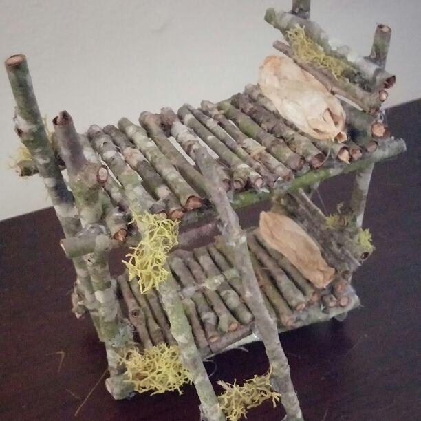 Cool item: Fairy garden bunk bed handmade