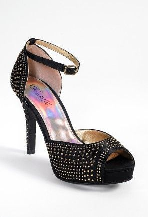 High Heel Sandal with Multi Crystals from Camille La Vie and Group USAHigh Heels Sandals, Homecoming Dresses, Group Usa, Luv Shoes, La Vie, Camille The, Heels Rhinestones Adjustable, Dresses Pric, Multi Crystals