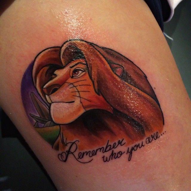 Another angle to Saturday's piece! || Proudly sponsored by @tattoolandsuppliesukltd || #tattoo #tattoos #tattooartist #tattoodesign #lionking #lionkingtattoo #simba #simbatattoo #priderock #disney #disneytattoo #disneyclassic #rememberwhoyouare #art #artist #artwork #ukbta #uktta @inkeddisney @disneytatts @disneytattooart @disneyinkfiends #bestofbritishtattoo