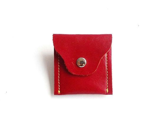 Kleine munt tas leder / munt portemonnees leder / platte portemonnee / mooie draagt weinig valuta voor vrouwen en mannen.