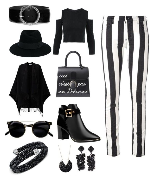 """""""⚫️⚪️⚫️⚪️⚫️"""" by dario-de-vlieger ❤ liked on Polyvore featuring Off-White, Ted Baker, Maison Michel, Jigsaw, Yves Saint Laurent, Swarovski and NOIR Sachin + Babi"""