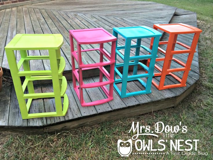 Monday Made It: Colored Sterilite Drawers - Mrs. Dows little Owls Nest