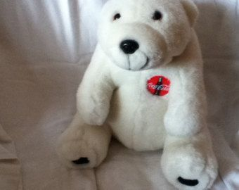 "Coca Cola Polar Bear - 1993 soft toy plush - 12"" H - Edit Listing - Etsy"