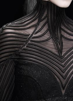 """Inspired by Sci-Fi """"Divergent,"""" Penelope loves this look by Byblos (Fall 2014)"""