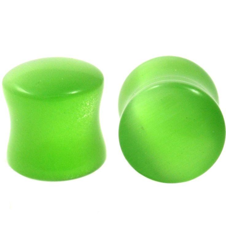 "Body Dazz - Green Cat's Eye Gem Stone Ear Plugs (2g-5/8"") (http://www.bodydazz.com/green-cats-eye-gem-stone-ear-plugs-2g-5-8/)"