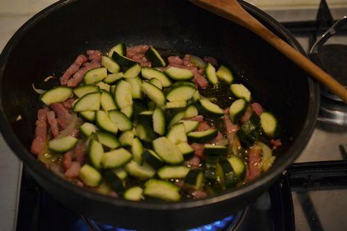 Carbonara di zucchine,un primo piatto veloce e gustoso
