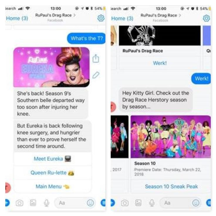 """It's time to Spill the T!  In advance of the Season 10 premiere of """"RuPaul's Drag Race"""" TONIGHT at 8/7c on VH1, """"RuPaul's Drag Race"""" wants to deliver a fan-first experience that will make all Drag Race viewers say, """"yas gawd!""""  / """"Sissy That Bot,"""" a Facebook messenger..."""
