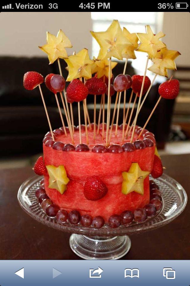 38 best Fruit Cakes images on Pinterest Fruit birthday cake