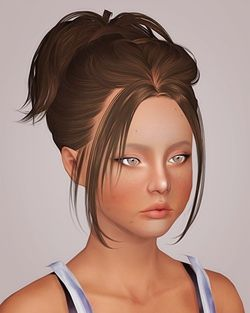 Skysims 228 hairstyle retextured by Liahx for Sims 3