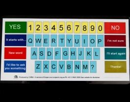 Alphabet Board   An alphabet board may be suitable for people who have literacy skills.  It can be designed specifically to suit the per...